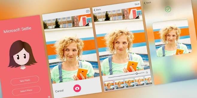 Microsoft'tan iPhone için 'özçekim' uygulaması
