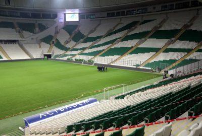 Stadyum dezenfekte edildi