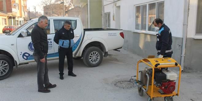 Yenişehir'de kış ilaçlaması