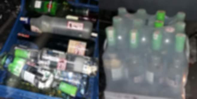 Uludağ'da 170 şişe kaçak içki ele geçirildi