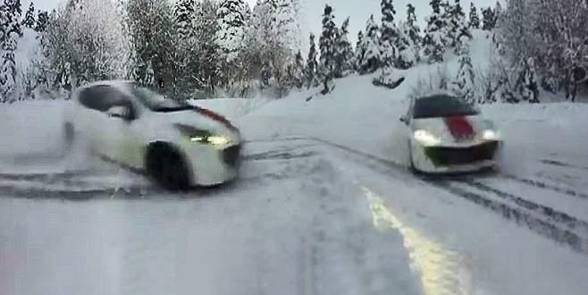 Uludağ'da kar ve buz üstünde ralli yaptılar