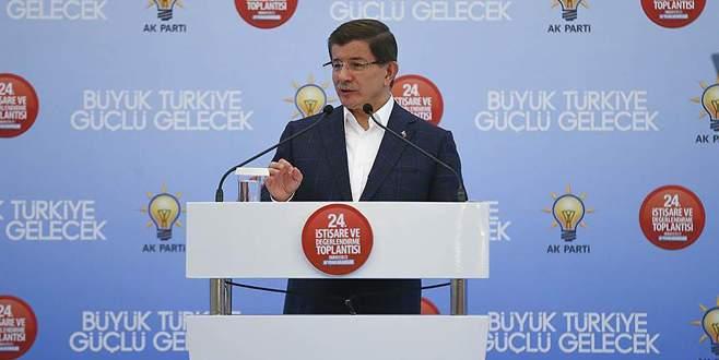 Davutoğlu: Terörle mücadeleyi kararlılıkla sürdürmeye devam edeceğiz