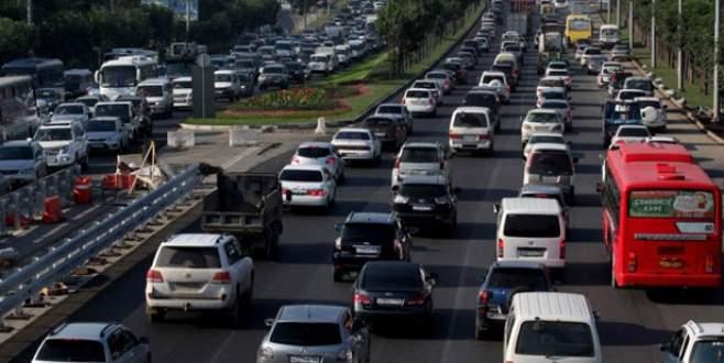 İşte trafikteki araç sayısı