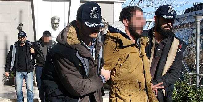 Bursa'da 3 PKK'lı zanlı adliyede
