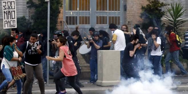 Sao Paulo'da polis şiddetine tepki