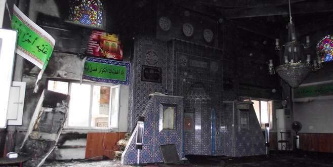 Bursa'da camide korkutan yangın