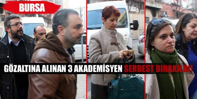 Gözaltına alınan akademisyenler serbest bırakıldı