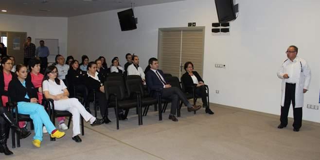 Hastane çalışanlarına tüberküloz eğitimi