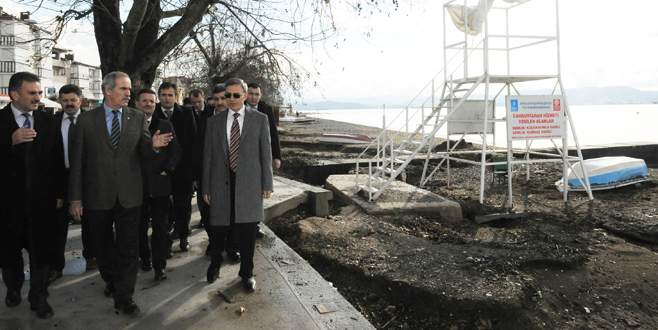 Bursa sahillerinde dönüşüm devam ediyor