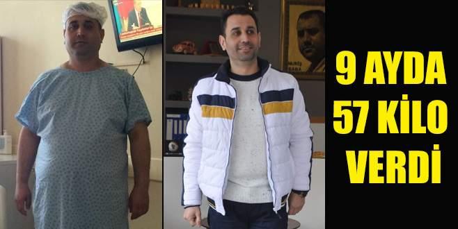 9 ayda 57 kilo verdi