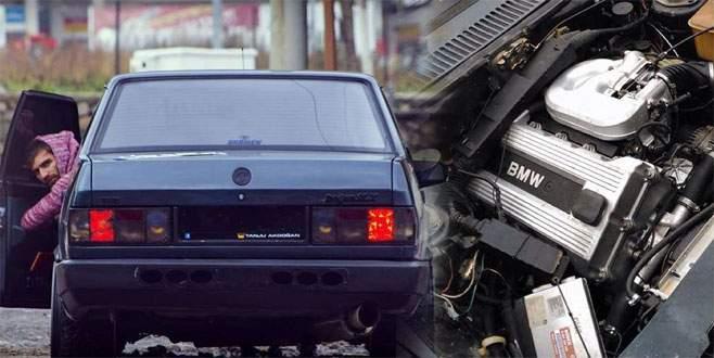 Şahin'e BMW motoru takan genç yakalanınca isyan etti