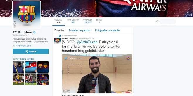 Barcelona'dan Türkçe twitter hesabı
