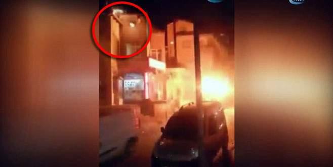 Zırhlı polis aracına molotoflu saldırı