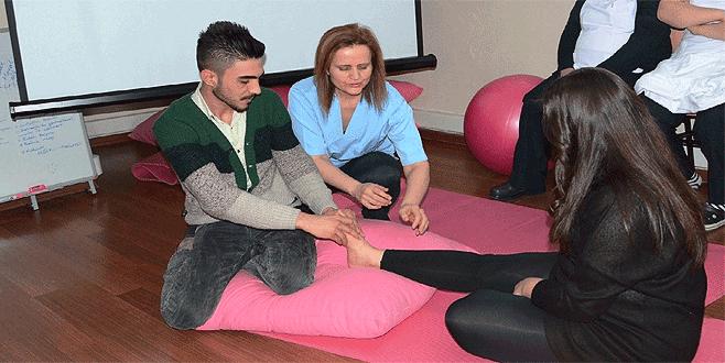 Bursa'da babalar için gebe okulu