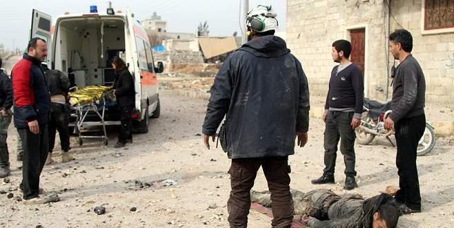 Rus uçakları Suriye'de sivilleri vurdu
