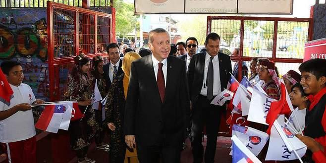 Erdoğan'dan Şili'deki Mustafa Kemal Atatürk İlkokulu'na ziyaret