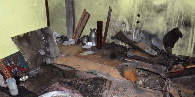 Odun diye yaktılar bomba çıktı! 7 yaralı