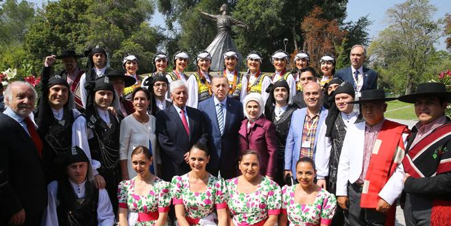Erdoğan Şili'de park açtı
