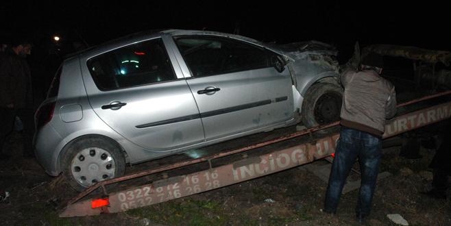 Şüphelileri takip eden polis aracı şarampole uçtu: 2 polis yaralı