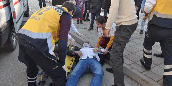 Bursa'da motosiklet kazası: Doktor ayağına geldi