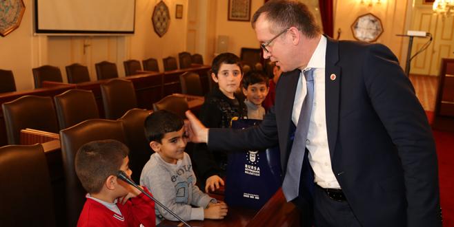 Mardinli çocukların Bursa keyfi