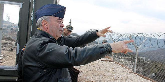 Orgeneral Ünal, Suriye sınırında