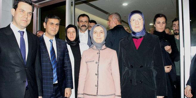 Sare Davutoğlu'ndan beşizlere ziyaret