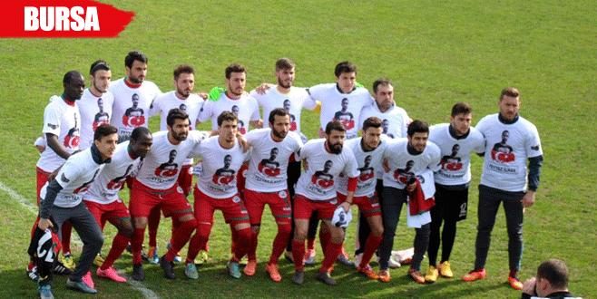 Mudanyaspor maça Mudanyalı şehidin formasıyla çıktı