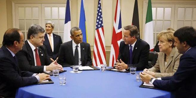 Obama, Cameron, Hollande ve Merkel Suriye'yi görüştü