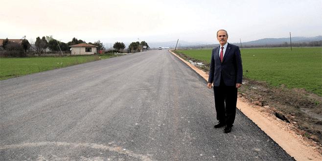 Bursa'da kırsal kesimde yol kalitesi artıyor