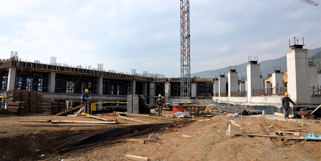 Bursa'nın yeni hastanesi hızla yükseliyor