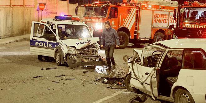 Polisten kaçan sürücü kaza yaptı: 1 ölü, 2 yaralı