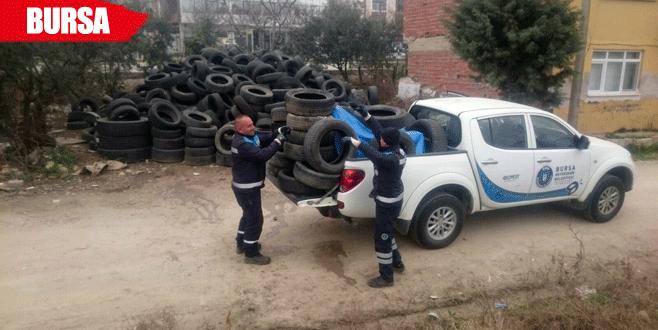 Sinek yuvası araç lastikleri toplandı
