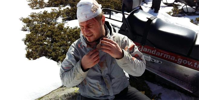 Uludağ'da uçurumdan düşerek başını taşa vurdu