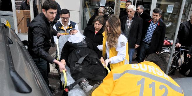 Bursa'da yaşlı kadına otomobil çarptı