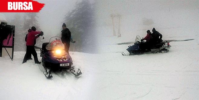 Jandarma kayıp kayakçıya 10 dakikada ulaştı