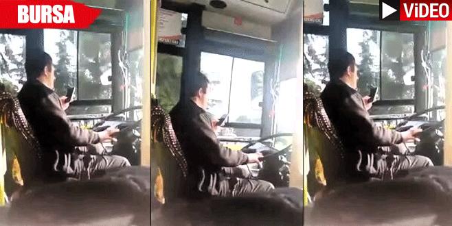 Halk otobüsü şoförü seyir halinde…