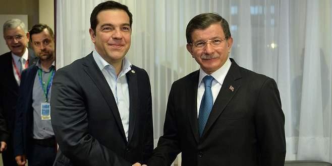 Başbakan Davutoğlu, Çipras ile görüştü