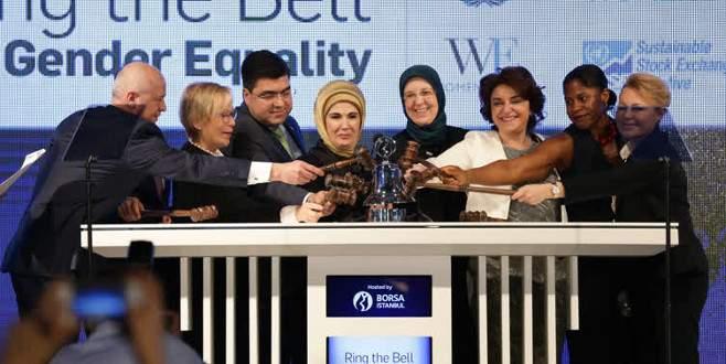 Borsa İstanbul'da gong kadın erkek eşitliği için çaldı