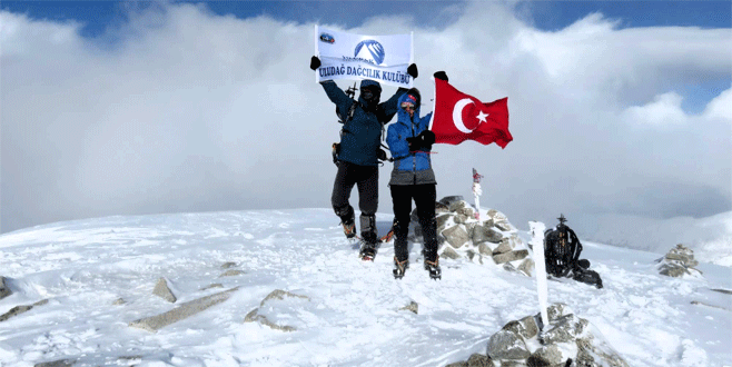 Bursalı dağcılar Bulgaristan'da bayrağımızı dalgalandırdı
