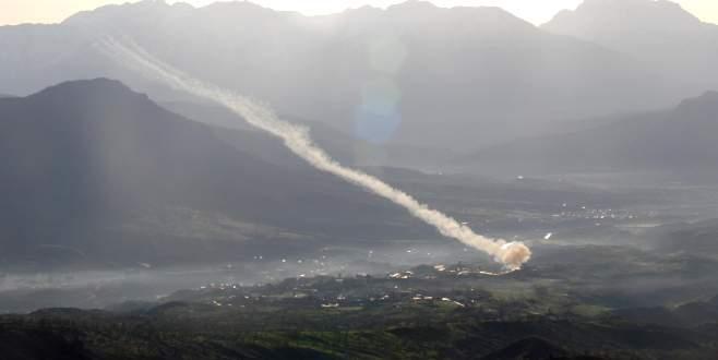 Obüsler PKK hedeflerini vurdu