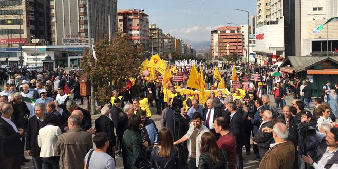 Bursa'da eğitimcilerden 'ceza' yürüyüşü