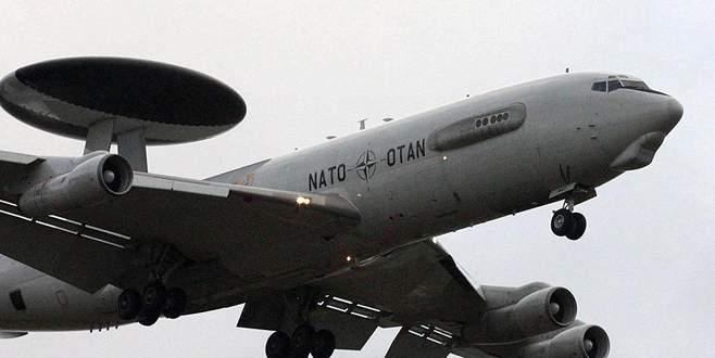 NATO AWACS uçağı Türk hava sahasında