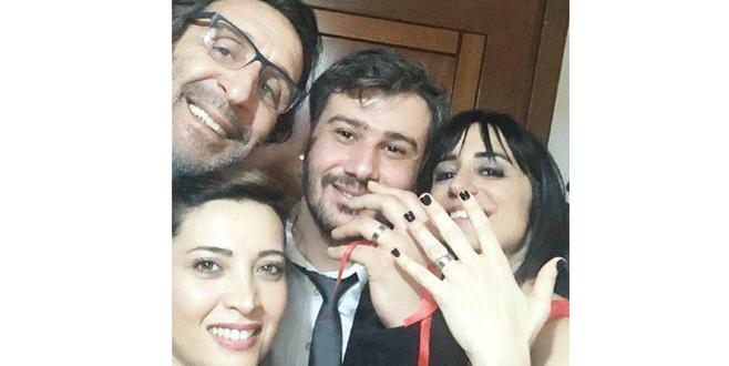 Kızını nişanladı