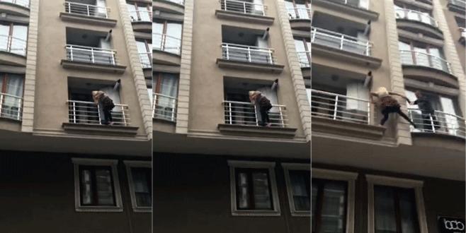 'Kocam beni öldürecek' deyip balkona koştu