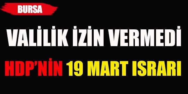 Bursa'da HDP'nin Nevruz ısrarı