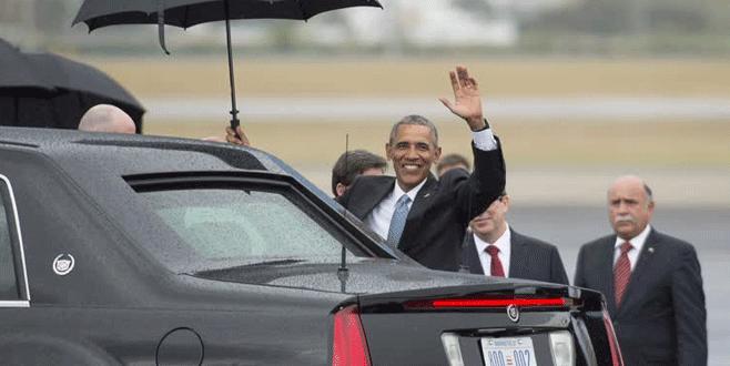 Obama tarihi ziyaret için Küba'da