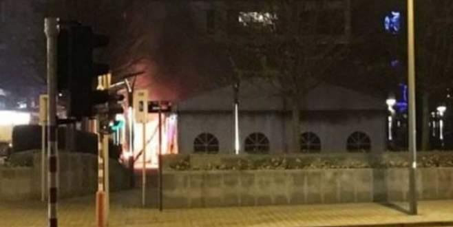 Terörist çadırında yangın