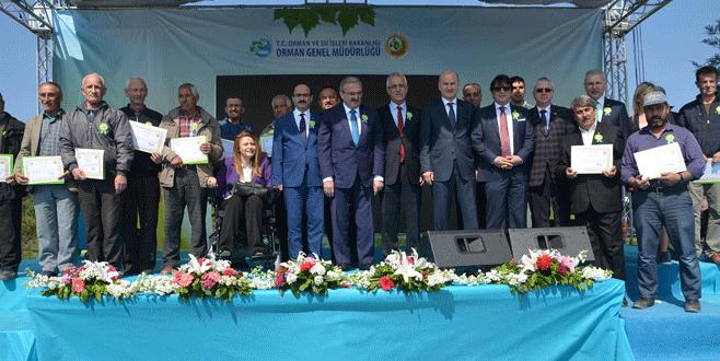 Balabancıklılara hak sahipliği belgesi