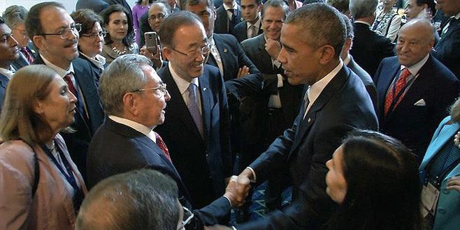 Obama, Raul Castro bir araya geldi